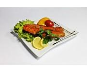 Сьомга гриль з овочами